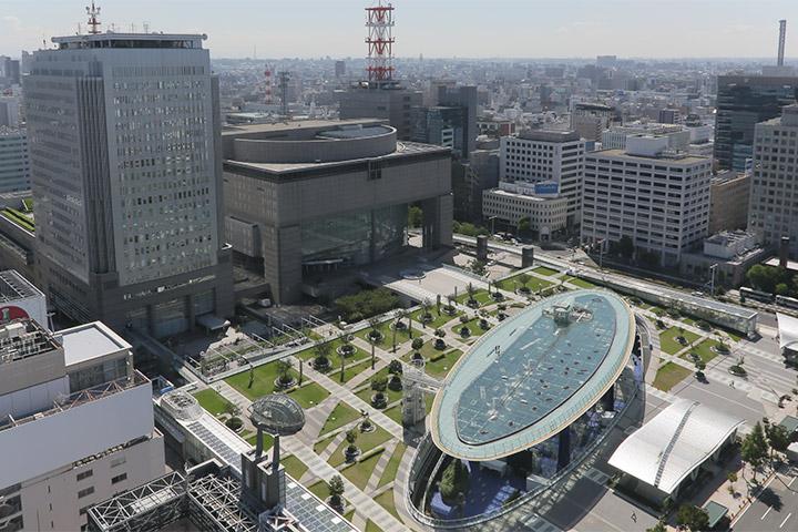 オアシス21と愛知芸術文化センター