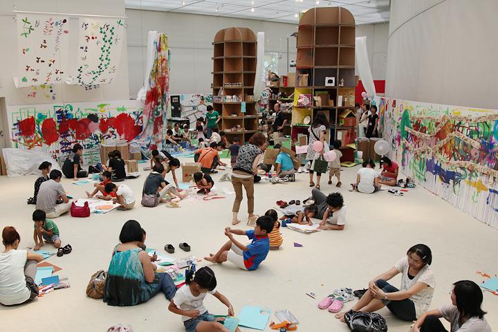 子どもたちが自由に創作活動ができる空間「デンスタジオ」
