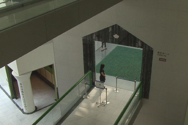 中央の緑色がオー・インファンの作品