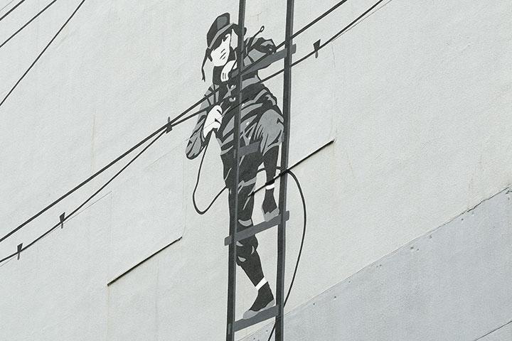 リゴ23《Looking at 2013 from 1952 Nagoya》旧玉屋ビル(M)外壁