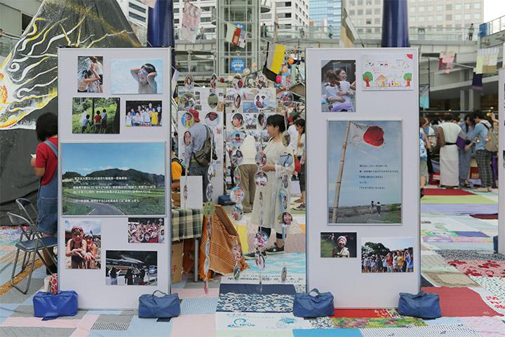 福島県の子供たちの写真パネル