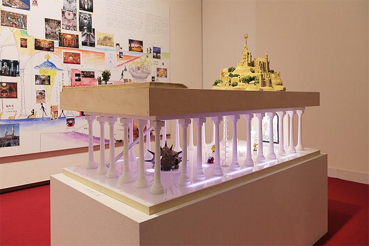 ヤノベケンジ《サン・チャイルド島/太陽の神殿 構想模型》