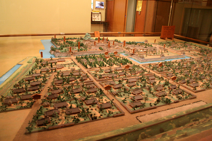 名古屋城郭模型(名古屋城内に展示)
