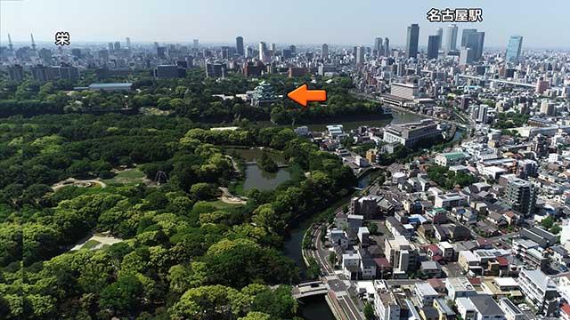 名古屋城位置