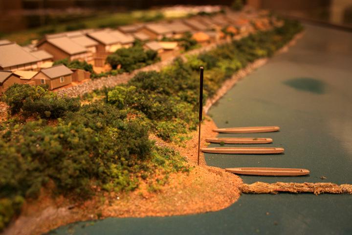 上定渡船場の模型(尾西歴史民俗資料館)