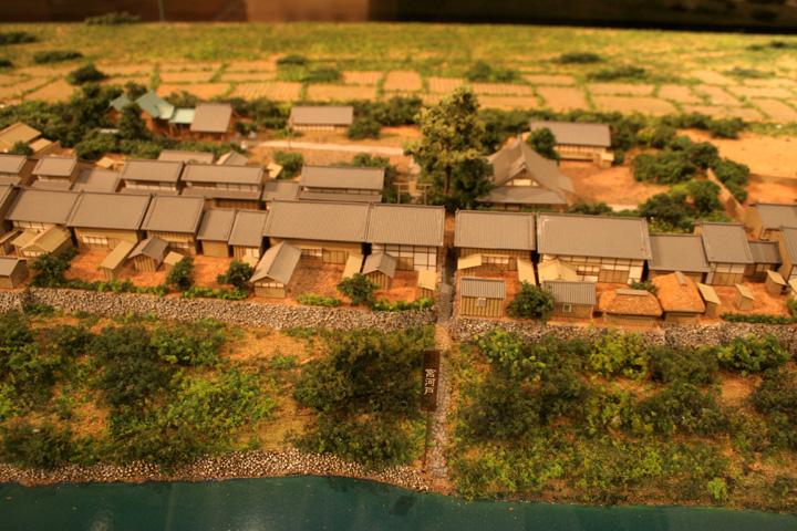 宮河戸の模型(尾西歴史民俗資料館)