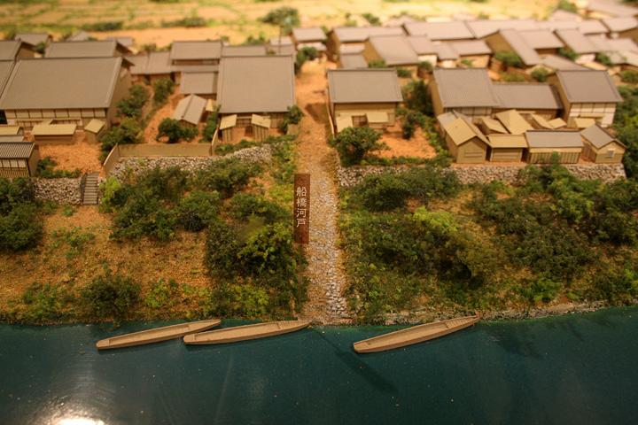船橋河戸の模型(尾西歴史民俗資料館)