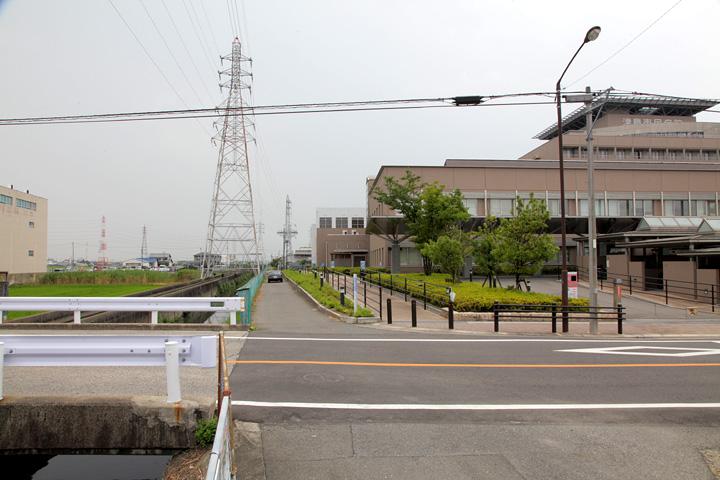 現在の風景(津島市民病院付近)