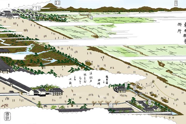 東本願寺掛所東側(現在の大津通)