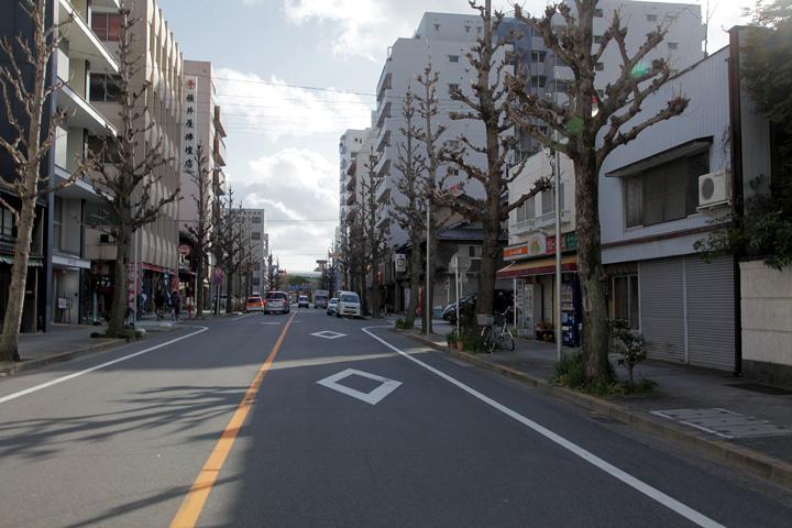 橘町あたりの美濃路(本町通)