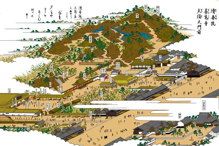 大須大門前清寿院(現在の那古野公園)