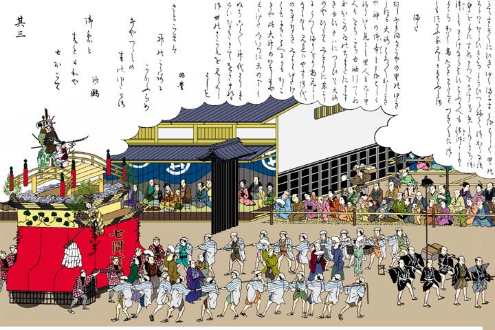 東照宮祭(尾張名所図絵)