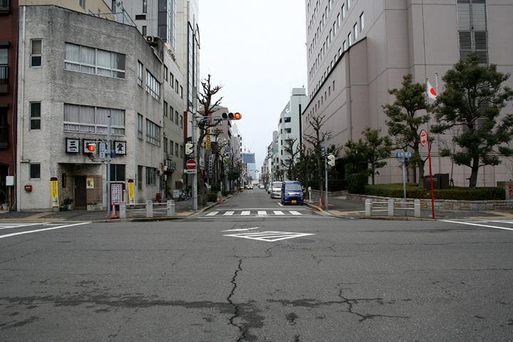 京町通茶屋町方向