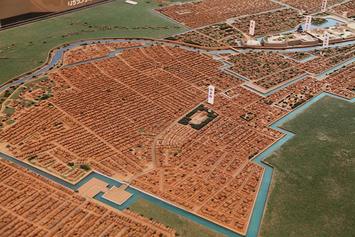 清洲城下模型(清須城内展示)