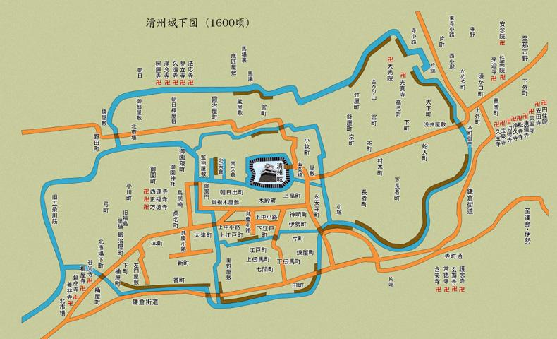 清洲城下図