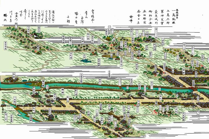 清洲総図その1(尾張名所図絵)