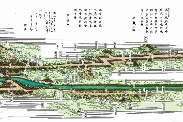 清洲総図その2(尾張名所図絵)