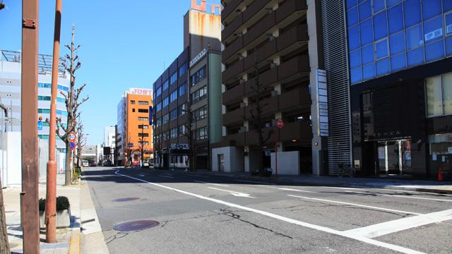 現在の風景 本町通三丁目付近