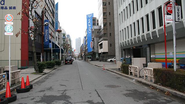 現在の風景 本町通と分岐した美濃路