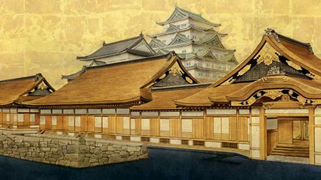 名古屋城と本丸御殿完成予想図