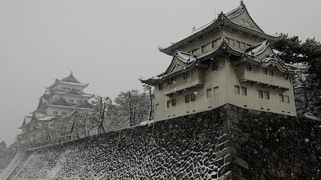 現在の風景 雪の名古屋城