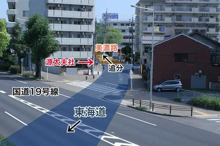 東海道と美濃路追分