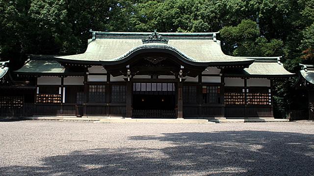 現在の風景 熱田神宮境内に移転された上知我痲神社
