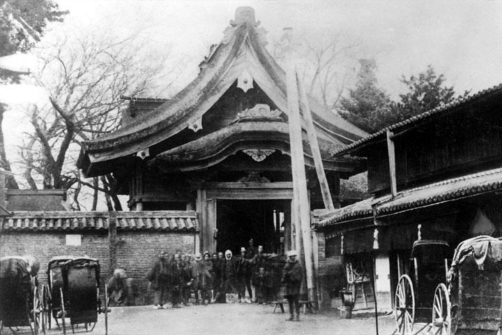移転前の源太夫社(上知我痲神社)