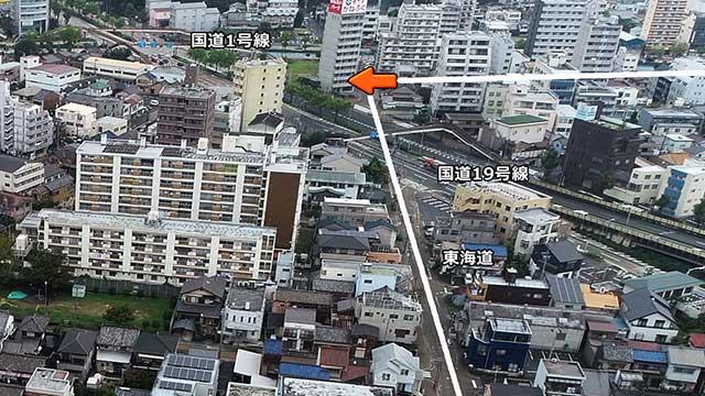 源太夫社(上知我痲神社)位置