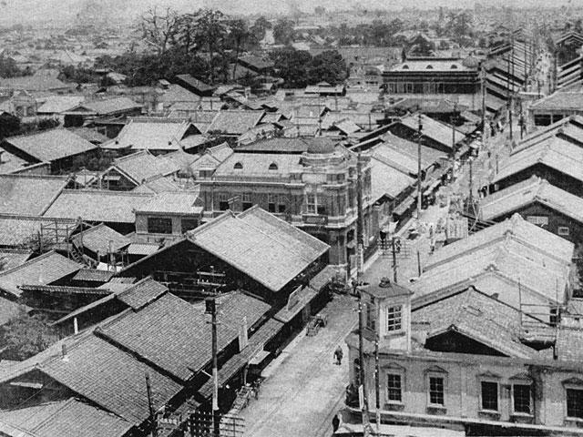 昭和初期の大須門前町