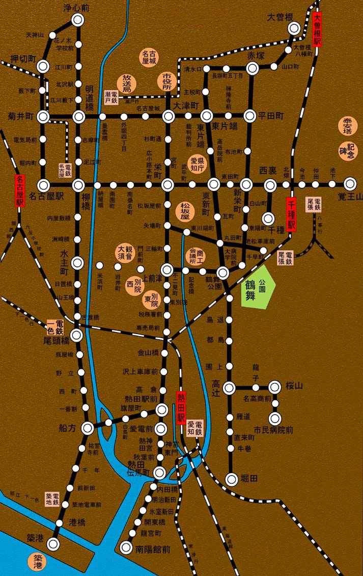 名古屋路線図(昭和初期)デジタルリメイク