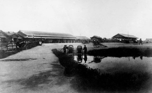 開設当時の名古屋駅(鶴舞中央図書館所蔵の原版をデジタルリマスター)