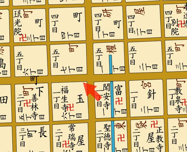 矢印の方向から名古屋銀行を撮影