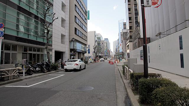現在の風景 伝馬町通本町(移転前)