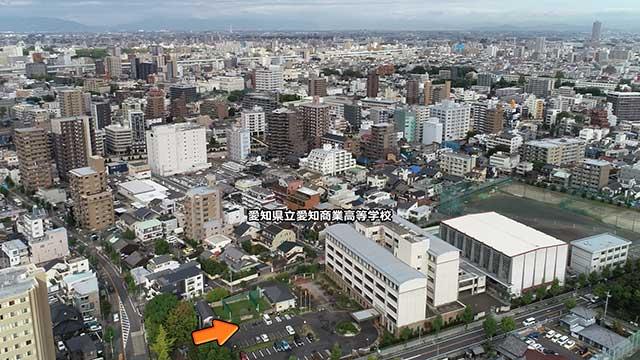 愛知県立明倫中学校位置