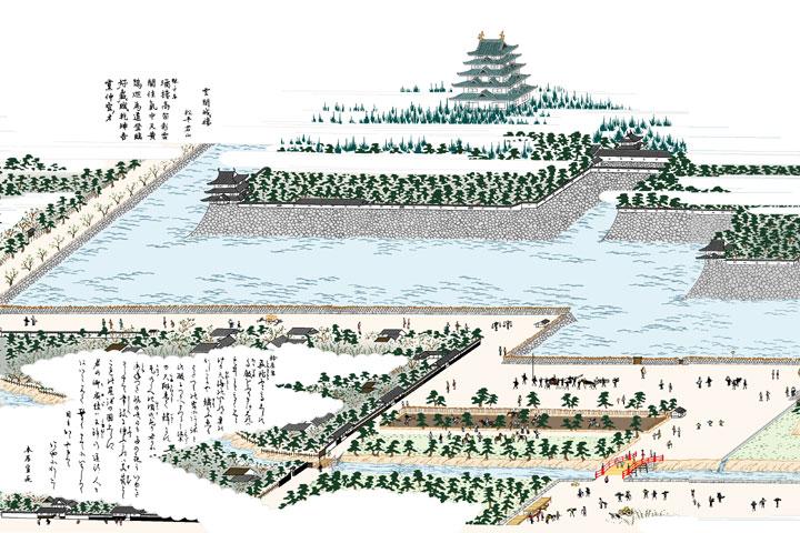 名古屋城ー尾張名所図会