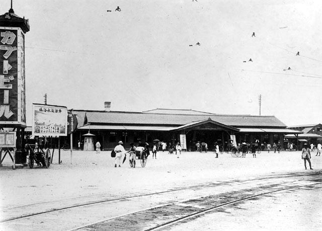 大正時代初期の名古屋駅前