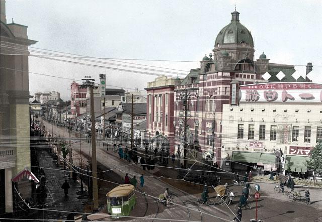 大正時代末期の栄町交差点