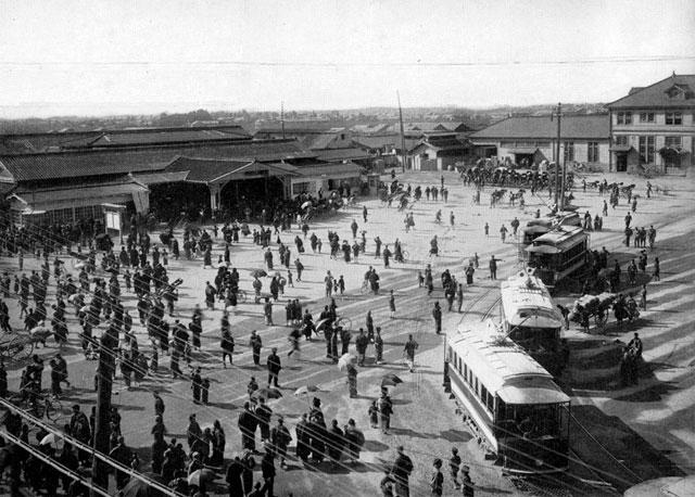 大正時代末期の名古屋駅前