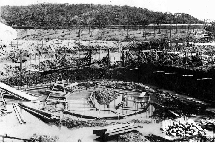 東山動物園オットセイ放養池の建設