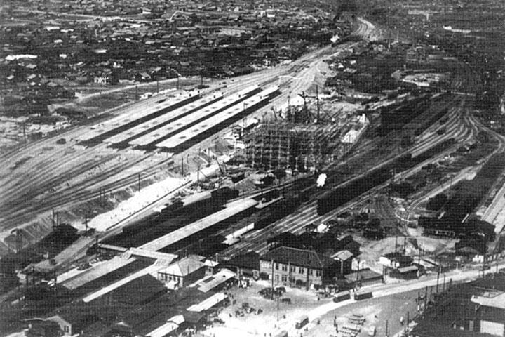 建設中の名古屋新駅