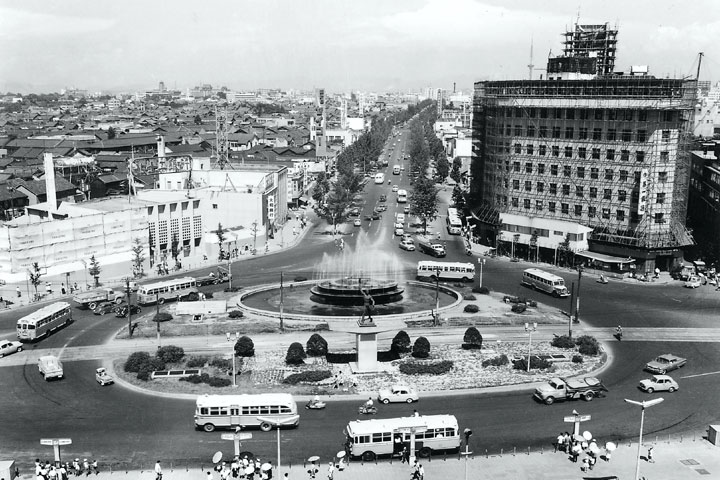30年代初頭の名古屋駅前