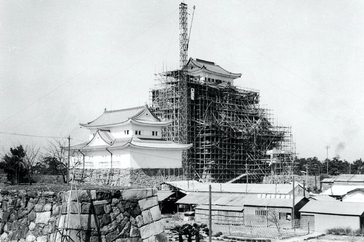 名古屋城天守閣再建へ 昭和34年完成