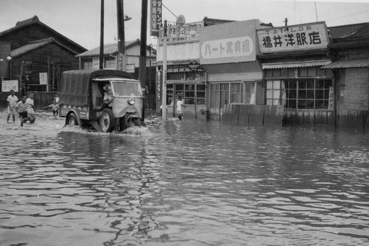 伊勢湾台風襲来 昭和34