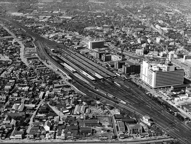 名古屋駅周辺(昭和34年頃)-名古屋都市センター所蔵の原版をデジタルリマスター