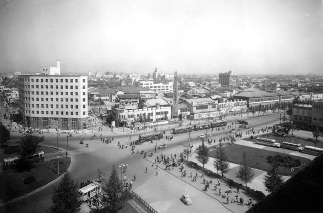 名古屋駅前(昭和25年頃)-名古屋都市センター所蔵の原版をデジタルリマスター