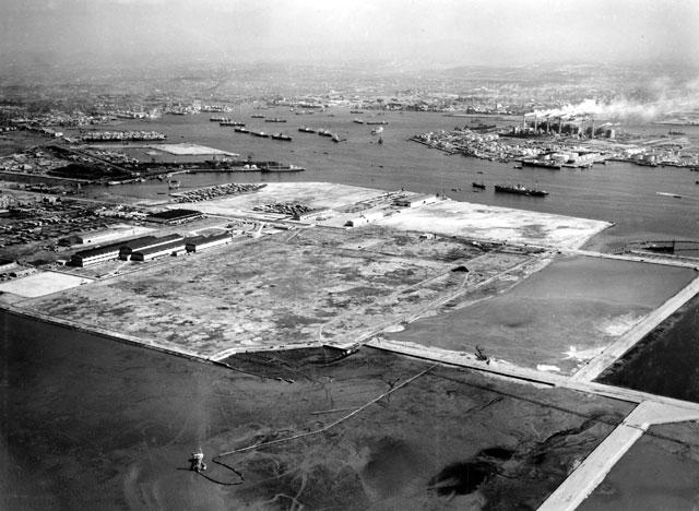名古屋港空撮 飛島埋立工事(昭和39年頃)-名古屋都市センター所蔵の原版をデジタルリマスター