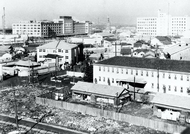 名古屋駅前付近(昭和29年1月)