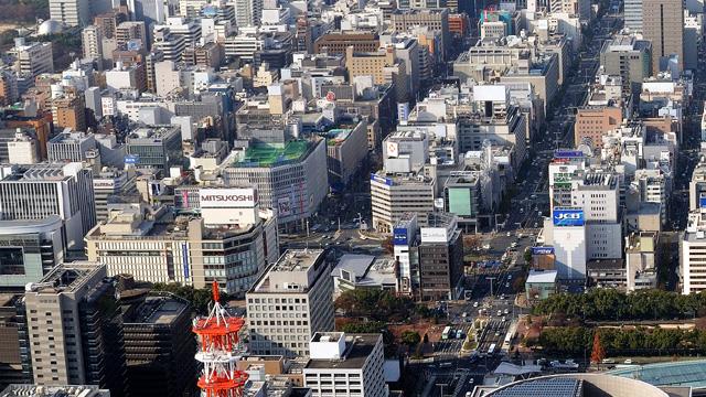 現在の栄周辺 -名古屋市広報課提供