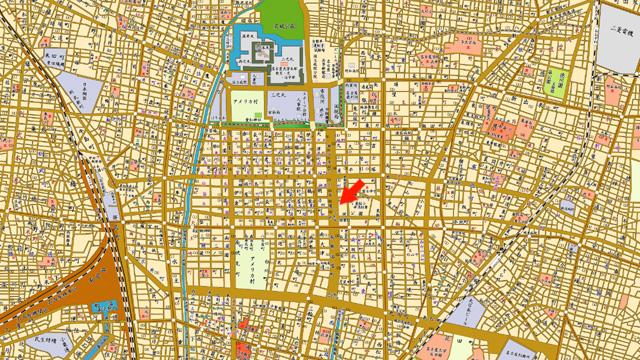 昭和33年頃の名古屋中心部